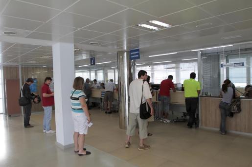 Interior de la sede de tráfico de Palma.