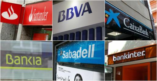 Imagen de archivo de varias entidades bancarias.