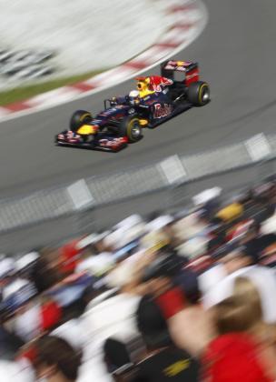 El piloto del equipo Red Bull Sebastian Vettel, durante la sesión de clasificación del Gran Premio de Canadá.