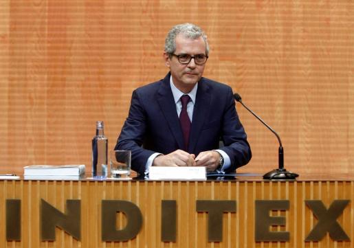 El presidente ejecutivo de Inditex, Pablo Isla, durante una intervención en la Junta General de Accionistas de la compañía textil.