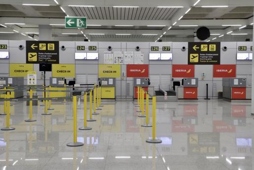 El aeropuerto de Palma, vacío.