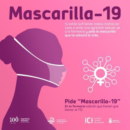 Las mujeres que puedan sufrir una situación de violencia machista en su hogar podrán alertar de ello a las farmacias de su barrio al solicitar la Mascarilla19.