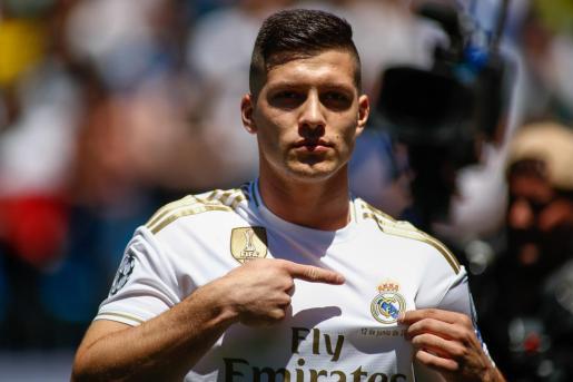 Imagen del delantero del Real Madrid Luka Jovic.