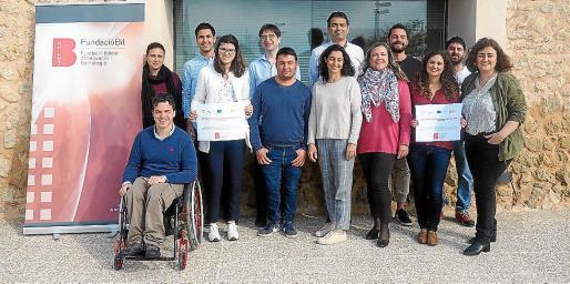 Los miembros del programa SOIB Jove -Qualificats de la Fundación Bit.