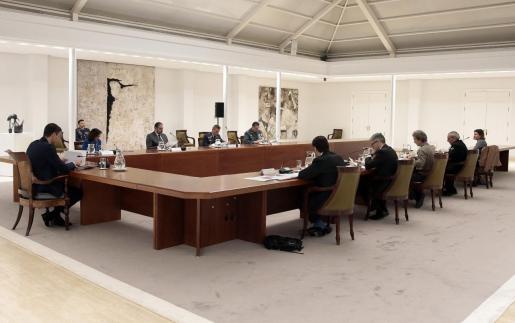 El presidente del Gobierno, Pedro Sánchez, preside la reunión del Comité de Gestión Técnica del Coronavirus.