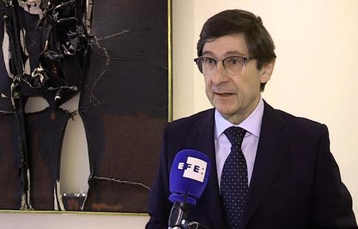 El presidente de Bankia, José Ignacio Goirigolzarri, en declaraciones a Efe.