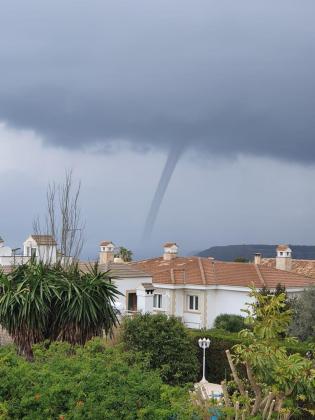 Imagen del 'cap de fibló' desde Llucmajor hacia la bahía de Palma.