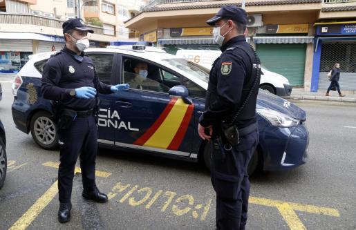 Detención practicada por agentes del Cuerpo Nacional de Policía