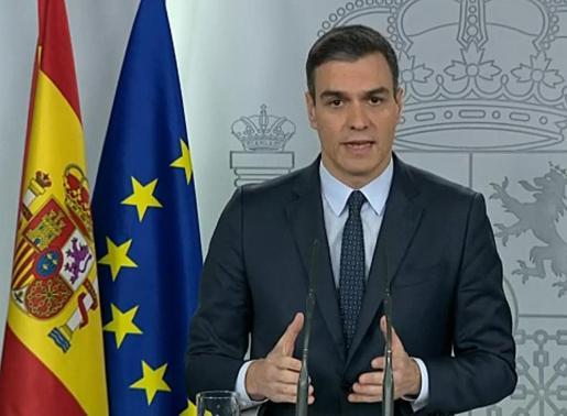 Captura de la señal del video institucional de Moncloa.