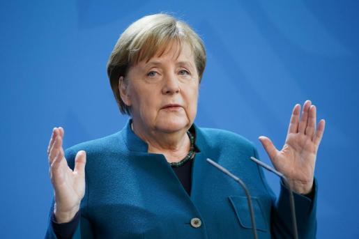 Iimagen de la canciller alemana de este mismo domingo.