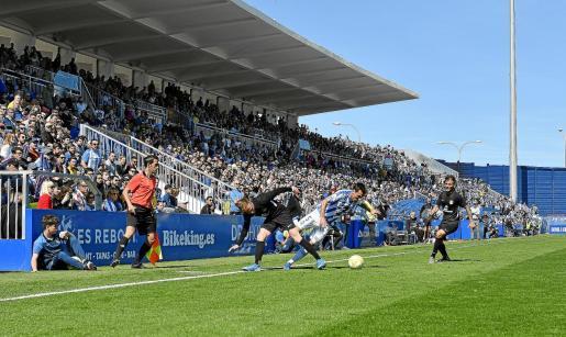 Imagen del partido disputado entre el Atlètic Balears y el Ibiza.