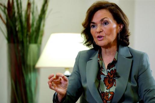 La vicepresidenta Carmen Calvo, en una imagen de archivo.