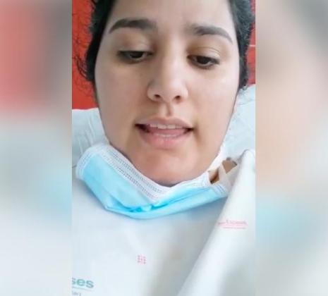 Micaela, enferma de coronavirus, cuenta su experiencia desde una habitación de Son Espases.