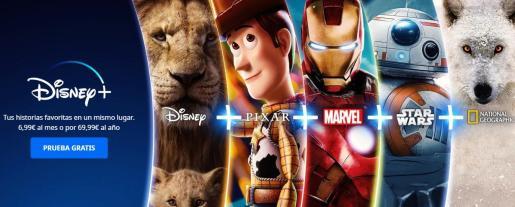 La llegada de Disney + pone en jaque a otras plataformas de 'streaming' ya consolidadas en nuestro país, como Netflix, HBO o Amazon Prime.