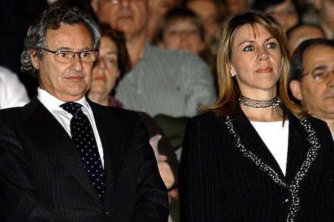 Imagen de archivo de Ignacio López del Hierro y María Dolores de Cospedal.