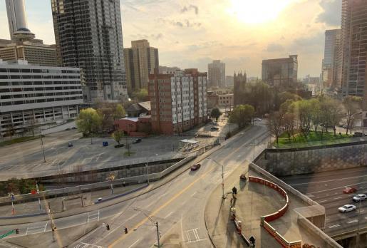 Panorámica de una zona de la ciudad de Atlanta, Georgia (EEUU).