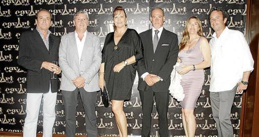 Sebastián Ensenyat, Miquel Bestard, Eleonor Rosselló,Ángel Ávila, Helga Velasco y Sebas Svartz.