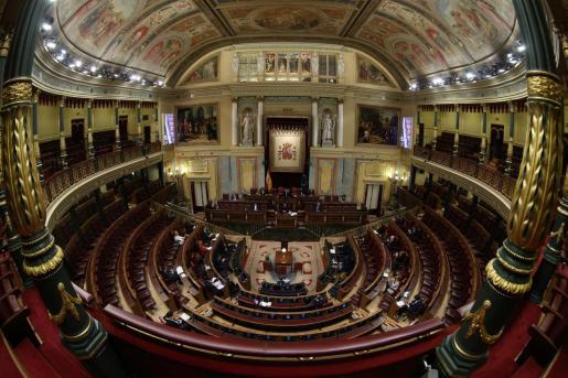 Imagen del Congreso de los Diputados, donde este miércoles se votará la prórroga del estado de alarma.