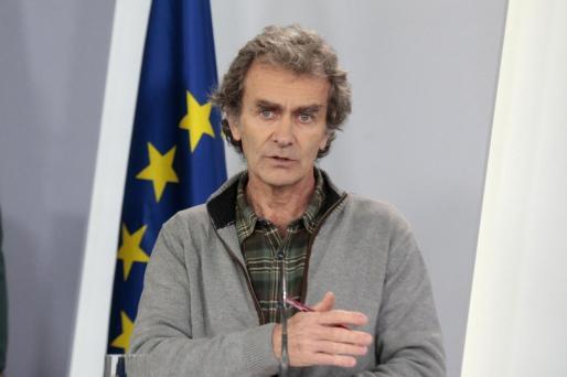El director del Centro de Alertas y Emergencias Sanitarias del Ministerio de Sanidad, Fernando Simón, durante la rueda de prensa telemática posterior al Comité de Gestión Técnica del Coronavirus.