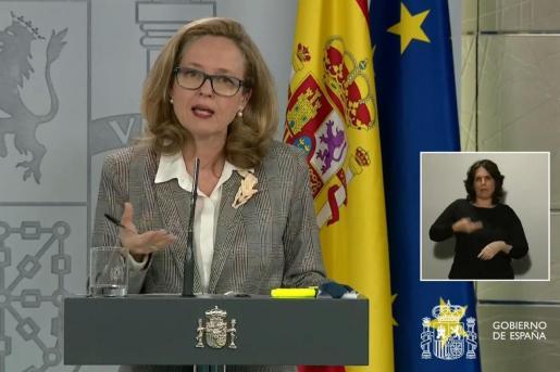 La vicepresidenta económica del Gobierno, Nadia Calviño.