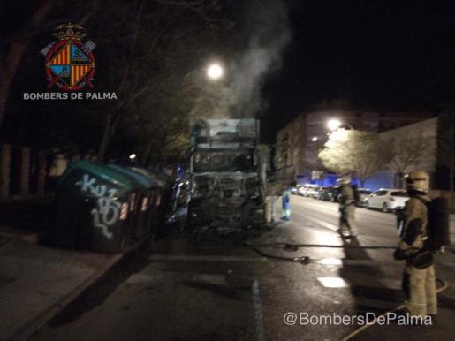 Hasta el lugar se han desplazado bomberos, agentes de la Policía de Palma, así como personal técnico de Emaya.