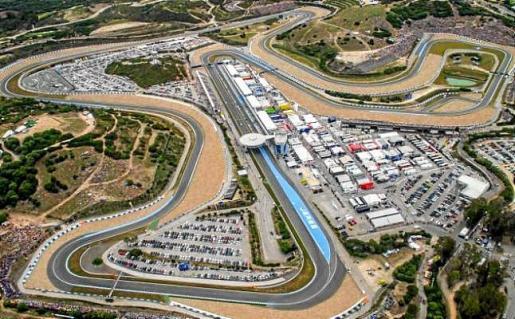 Imagen aérea del Circuito de Jerez, escenario del Gran Premio de España de motociclismo.