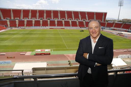 El presidente del Real Mallorca, Andy Kohlberg, en una imagen captada en el estadio de Son Moix.