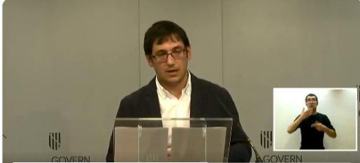 Iago Negueruela, este jueves durante su comparecencia.