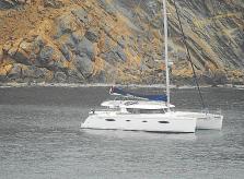 Prohíben la entrada a un catamarán en Andratx