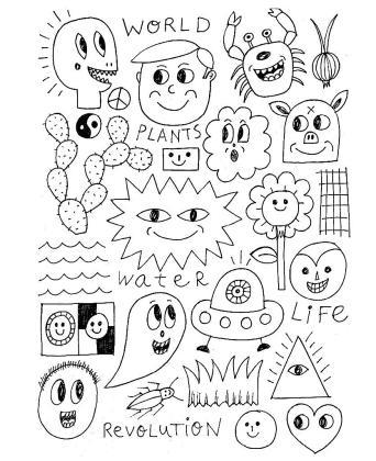 Dibujo para colorear cedido por el artista al proyecto de la Milano Art Guide.