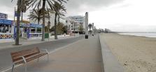 La Playa de Palma, vacía por el coronavirus