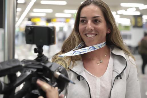 La regatista mallorquina Paula Barceló.