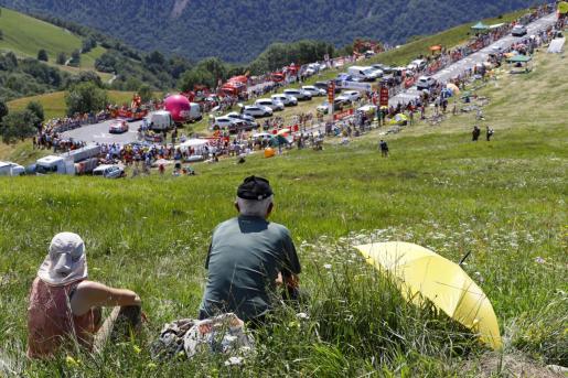 Imagen de la cima de Peyragudes, durante el pasado Tour de Francia.