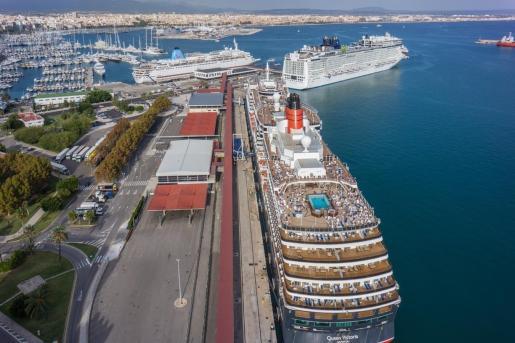 Los grandes cruceros ya no atracan en Baleares.