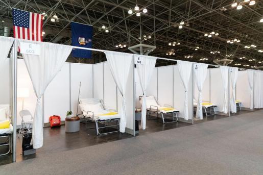 La ciudad de Nueva York va a acondicionar cuatro grandes instalaciones como hospitales de emergencia, que añadirán 4.000 camas extra.