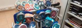 Ola de solidaridad: Las máscaras de buceo llegan a los hospitales de Mallorca
