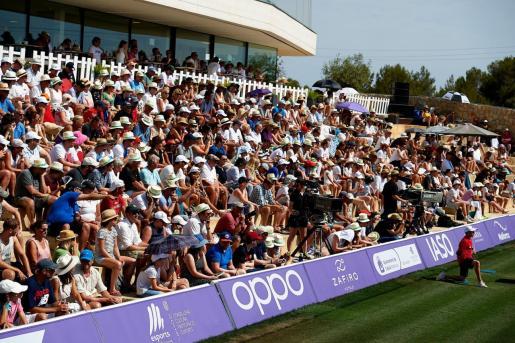 Imagen de las gradas de las instalaciones de Santa Ponça, durante la final del pasado Mallorca Open.
