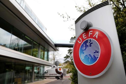 Imagen de los exteriores de las oficinas de la UEFA, en Nyon.