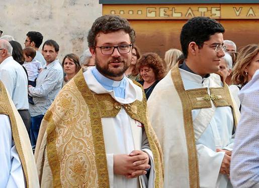 El rector Xisco Vicens (izquierda), junto al vicario Danilo de Urzeda.