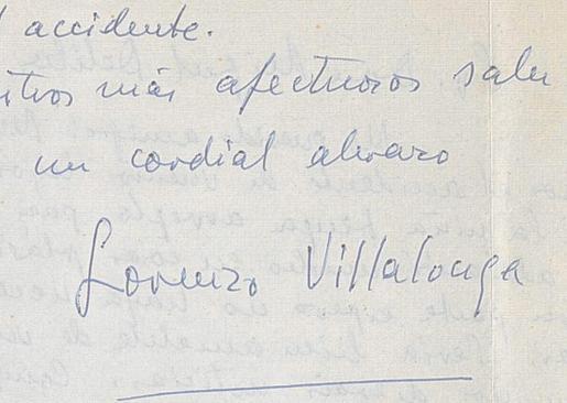 Carta de Llorenç Villalonga a Miguel Delibes, datada en el año 1964.