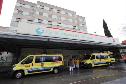 Imagen de los accesos al hospital Gregorio Marañón, en Madrid.