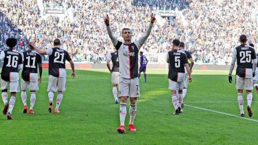 Cristiano Ronaldo celebra un gol con la Juve.