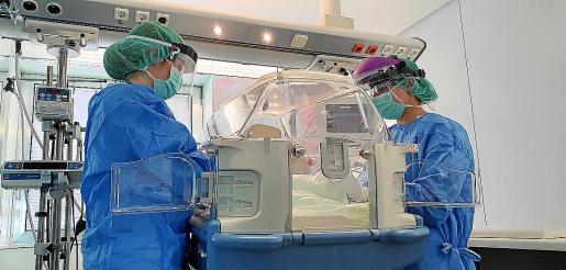Imagen de la zona de aislamiento en la unidad de cuidados intensivos neonatales de la Rotger.
