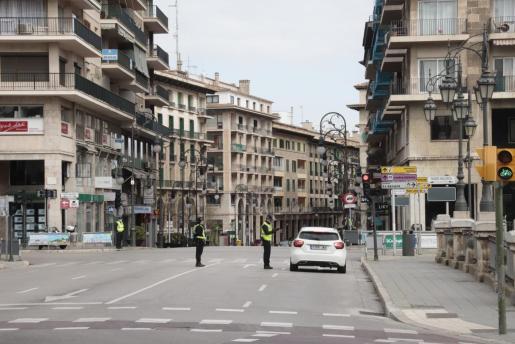 Imagen de Palma, una ciudad sin actividad alguna.