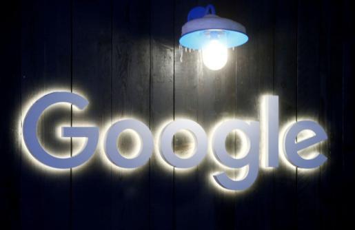 El logo de Google en Davos.