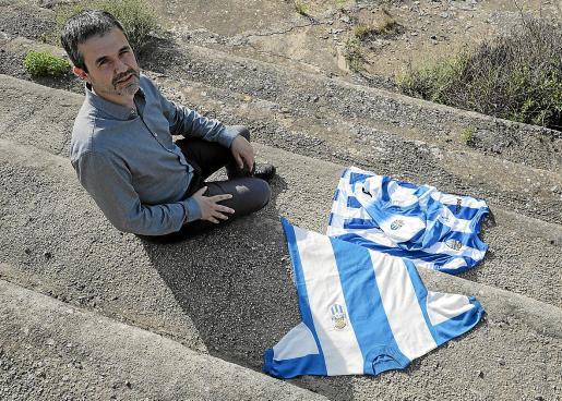 El historiador Manel García, en las instalaciones del Velódromo del Tirador.