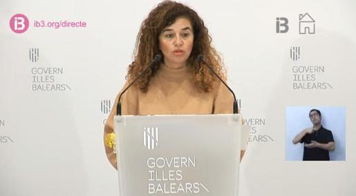 Pilar Costa, durante la comparecencia de este viernes tras el Consell de Govern.