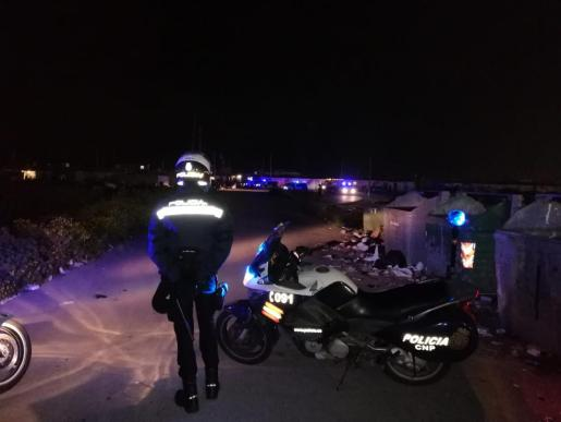 Control policial en Palma.