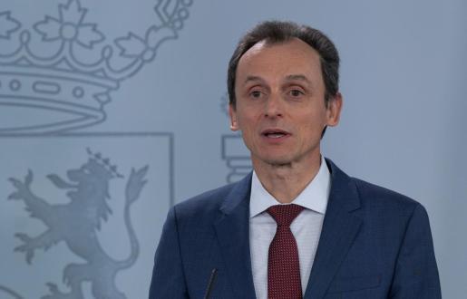 Pedro Duque, ministro de Ciencia, en una reciente comparecencia.