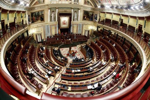 Un momento del pleno celebrado el miércoles 25 de marzo en el Congreso de los Diputados en Madrid.